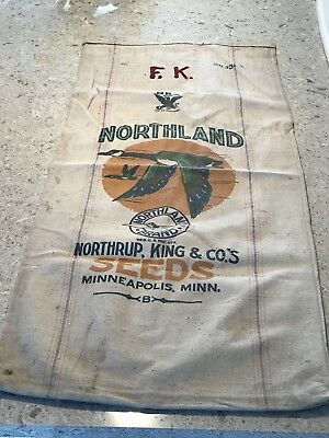 Northland Northrup King Seeds & Bemis A Seamless Extra Heavy Cloth Seed Bag