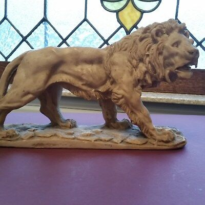 Vintage Carved Lion Sculpture - Original - VGC