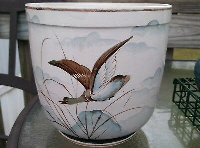 Antique 1875- 1900 Rare Hand Painted Ludwig Wessel Jardiniere Planter.