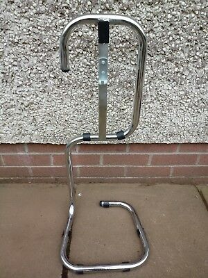 Single Chrome Fire Extinguisher Stand
