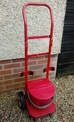 Double fire extinguisher trolley unit with fire bucket