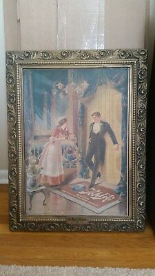 Schlitz Beer 1971 Litho Repro Display Ad - Maid's Dilemma from 1906