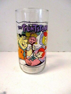 The Flintstones Hardees Drinking Glass First 30 Years