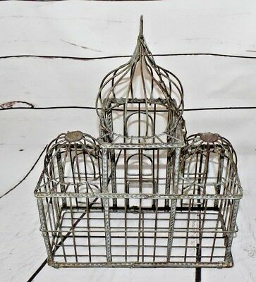 Vintage Hanging Metal Birdcage Art Decorative Only Approx 11L x  5W x  16H