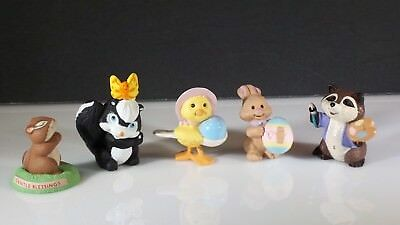 Vintage LOT of Merry Miniatures Hallmark Easter Spring Collectibles ~ very CUTE!