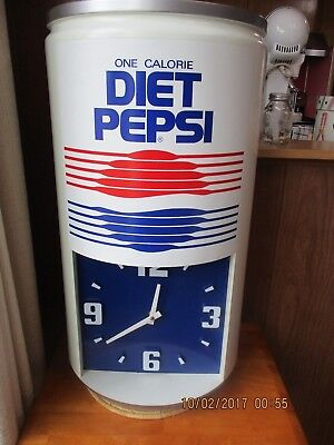 """Vintage Diet Peps  Clock - Large Can Style """"One Calorie"""""""