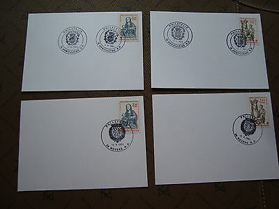 FRANCE - 4 cards 1984 (red cross) (cy77) french (A)