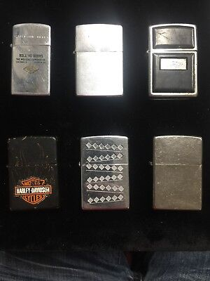 Lot Of 6 Zippos From Vintage 1960 To 2017 Zippo Lighter