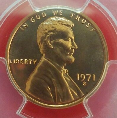 1971 S  Lincoln Cent / PCGS PR 67RD -  Beautiful & Bright RED - Check it .....