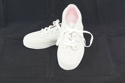 c2d9bf2f818a NEW Girls Youth Kids Juniors VANS Atwood Textile Grey Pink Sneakers Shoes  13.0