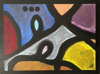 Original Abstract Painting, Acrylic paint, Italian artist, colorful