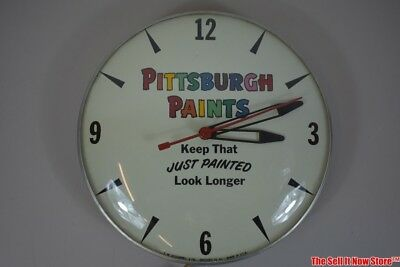 Vintage TW O'Connell & Co Chicago Pittsburgh Paint Paints Advertising Clock