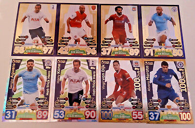 Match Attax Extra 2018 2017/18 Limited Editions 100 Clubs And Hat-Trick Heros