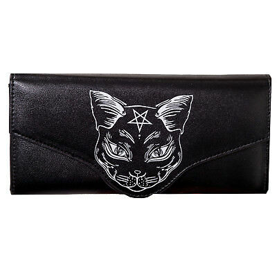 Banned Nemesis Black Cat Rockabilly Goth Wicca Occult Retro Purse Wallet