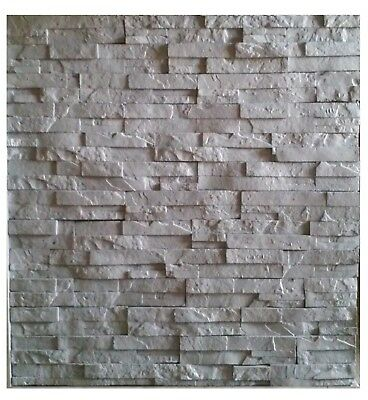 Stone Design 3D Glue on Wall Panel Foam Materials, COLOR= CHARCOAL