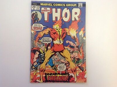Thor #225 First Appearance of Fire Lord (Jul 1974, Marvel)