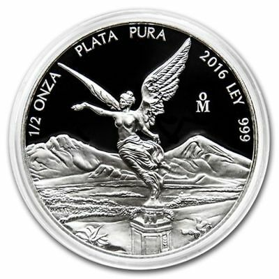 2016 Mexican Libertad 1/2 oz .999 Silver Proof Round Very Limited Bullion Coin