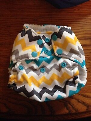 New! Rumparooz One Size Pocket Diaper Snap Closing - Charlie