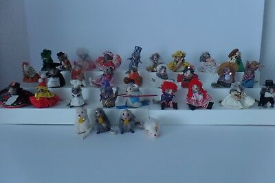 Vintage Original Fur Toy Lot Of 27 Mice Mouse West Germany