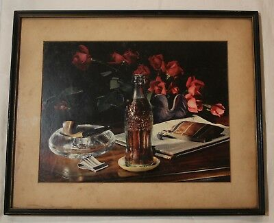 1946 Coca Cola Coke Still Life Art Framed Print Chattanooga Office Reject Carbro