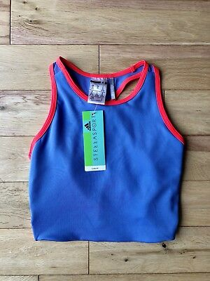 Womens Adidas Stella McCartney Blue And Red Sports Bra Top Size XS FAST DISPATCH