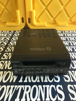 Sony EV-C3 Video 8 Player Recorder Tape Stuck Powers On For PARTS  As Is