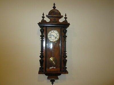 Antique Junghans 14 Day Vienna Wall Regulator Clock Made In Germany, Time/strike
