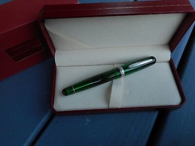 Stipula Etruria Rainbow Green Oversize Fountain Pen Limited Edition