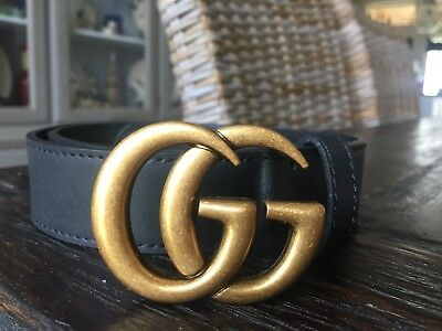 "Hot Deal !!! Womens Genuine Leather Belt  ""GG"" Logo Style Belt Size 80"