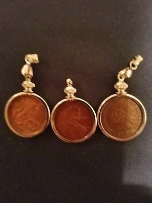 Hobo coins Wheat cent Indian Head cent  pendant's