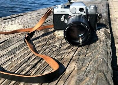 Excellent Leica Leicaflex 35mm film SLR camera with Leather bag + 135mm Lens