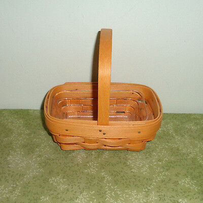Longaberger Classic Parsley Booking Basket with Plastic Protector
