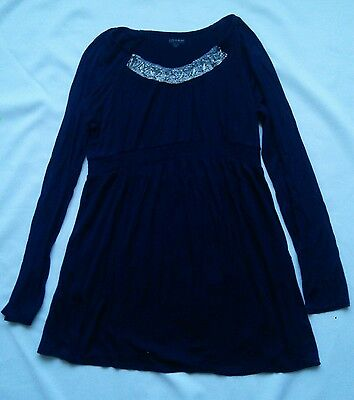A Pea in the Pod Navy Blue Dressy Tunic Size L