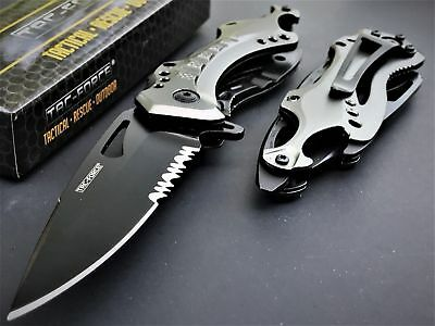 2 x TAC FORCE SPRING ASSISTED Tactical FOLDING KNIFE Blade Pocket Open Switch
