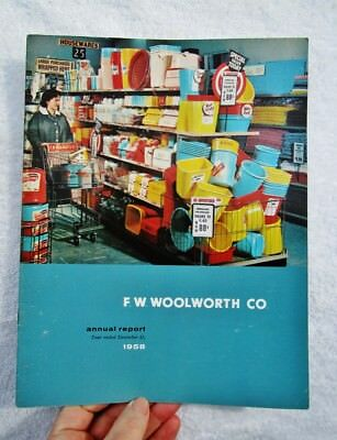 1958 F.W. WOOLWORTH CO. - Vintage Annual Five-And-Dime Department Store Report