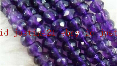 Natural 5x8mm Faceted Russican Amethyst Gems Loose Beads 15'' AAA