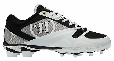 New Warrior GOSPELWB Molded Mens 9 D Medium White/Black Lacrosse Cleat