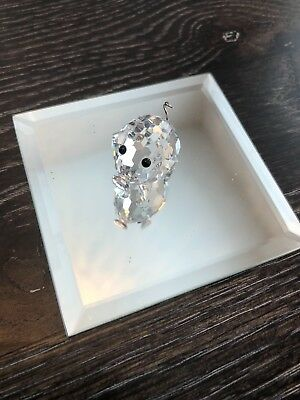 100% Swarovski authentic collectors iteam crystal pig figurine with mirror NEW!