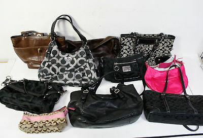 Lot of 10 Coach Bags Wholesale Mixed Handbag Leather Canvas
