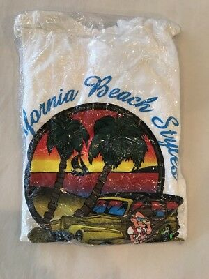 RARE NEW BOB'S BIG BOY Y COTTON T-SHIRT WOODIE CALIFORNIA BEACH STYLES Large