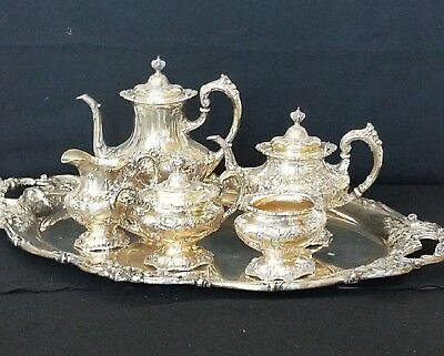 Wow Estate Reed & Barton Francis I Tea  Set With Matching Sterling Tray.
