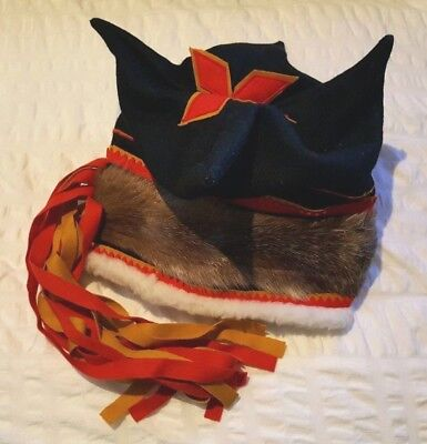 Authentic Quality Vintage Lake Inari Sámi Saami Sami Four Winds Wool Folk Hat