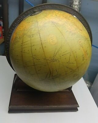 """Vintage - 1934 Replogle 12"""" Library World Globe With Stand And Atlas"""