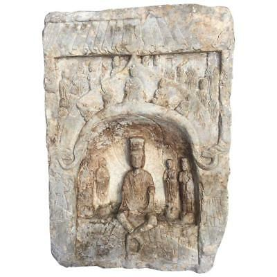 """Chinese Large 23"""" Old Stone """" Grotto  Buddha """". , Private Family Garden"""