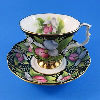 Provincial Flowers Lady's Slipper Royal Albert Tea Cup and Saucer Set