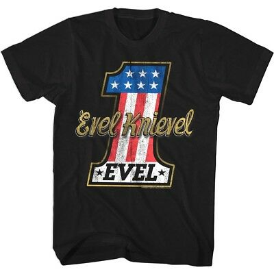 OFFICIAL Evel Knievel Stars & Stripes Stunt rider Men's T-Shirt Motorcycle Biker