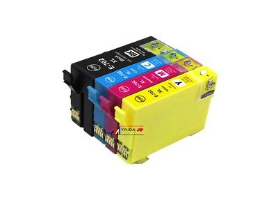 4x Compatible Ink 702 702XL E-702XL T-702XL for Epson Workforce WF-3720 WF-3725