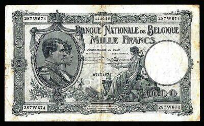 1000 Francs  from Belgium 1926  MM3