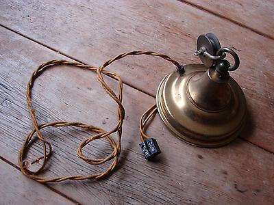 vintage brass ceiling rose and pulley