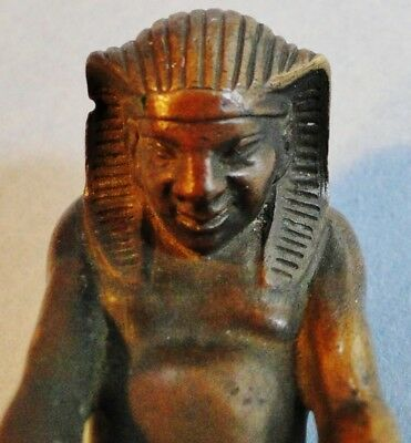 """Rare Antique Finely Cast French Bronze Egyptian Revival Seal """"gl""""  France 1830"""